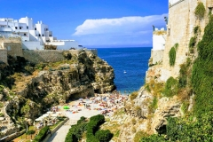 Beautiful town of Polignano a Mare in Puglia