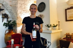 Delicious rose wine in Puglia